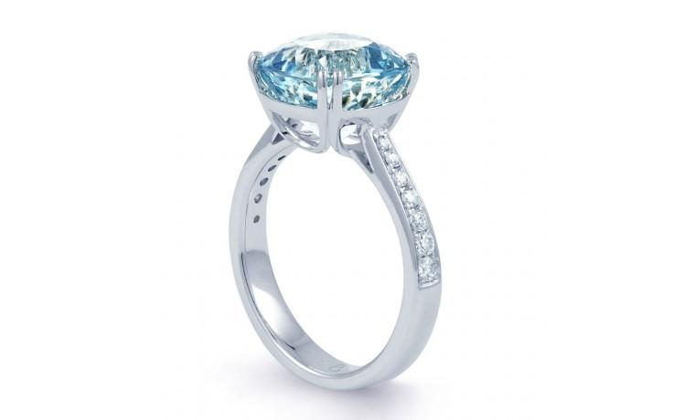Ceto Aquamarine Ring In White Gold product image 2