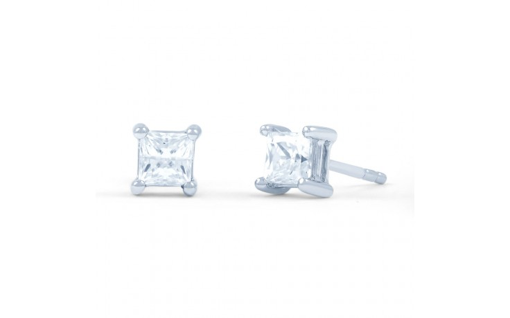 Princess Cut Diamond Stud Earrings product image 1