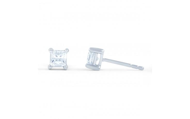 Princess Cut Diamond Stud Earrings product image 2