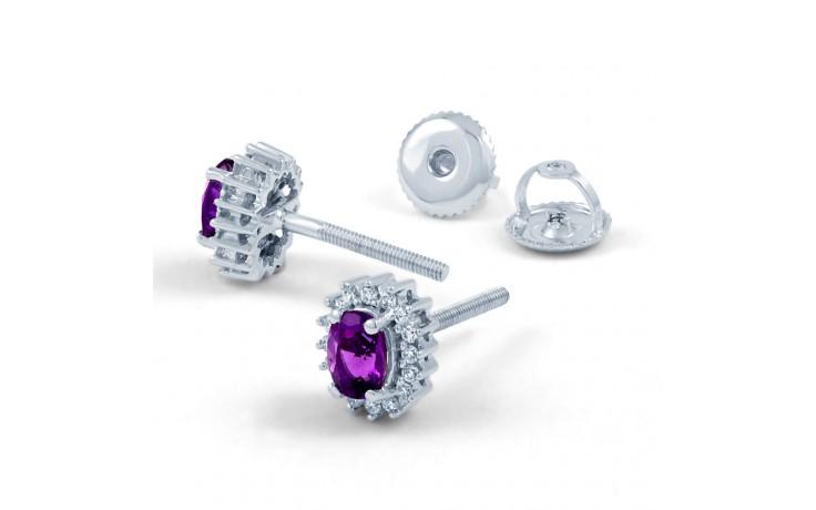 Amethyst Halo Stud Earrings product image 3