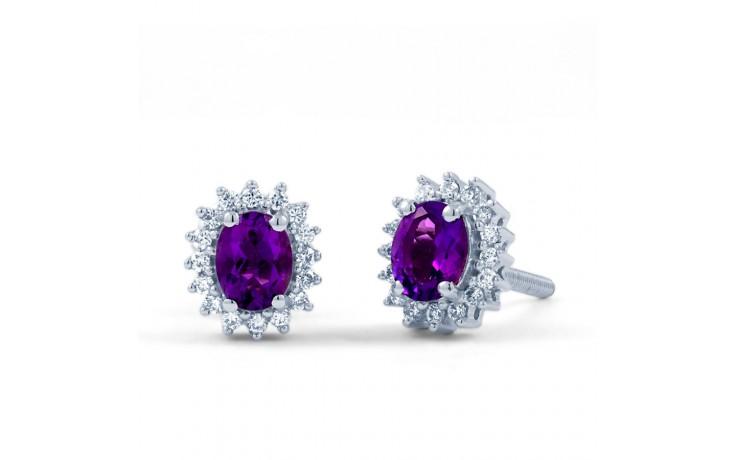 Amethyst Halo Stud Earrings product image 2