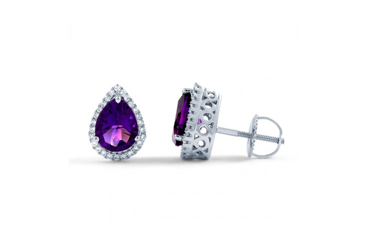 Pear Stud Earrings in Amethyst product image 1