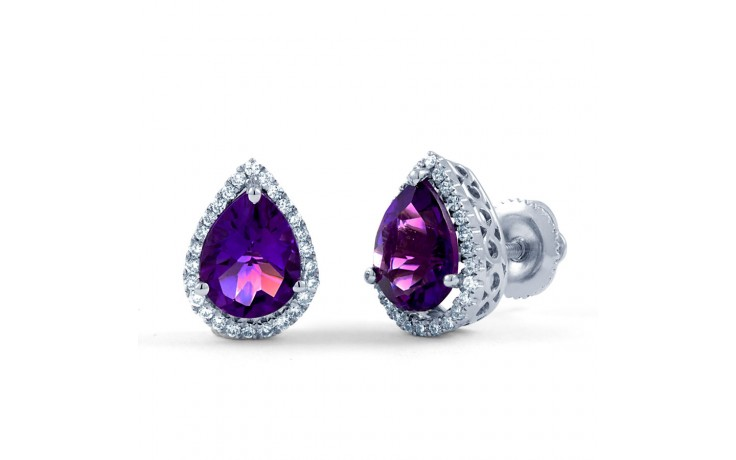 Pear Stud Earrings in Amethyst product image 2