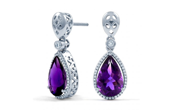 Amethyst and Diamond Drop Earrings product image 1