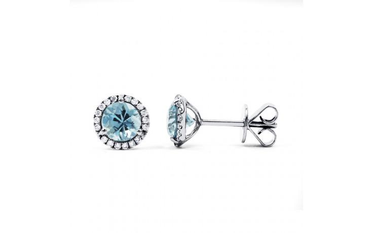 Aquamarine and Diamond Stud Earrings product image 1