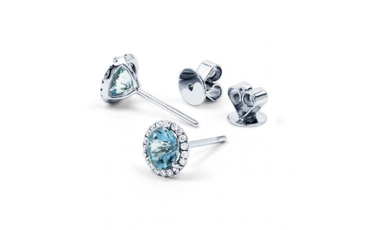 Aquamarine and Diamond Stud Earrings product image 2