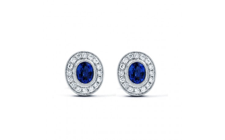 Vintage Sapphire Earrings with Milgrain product image 2