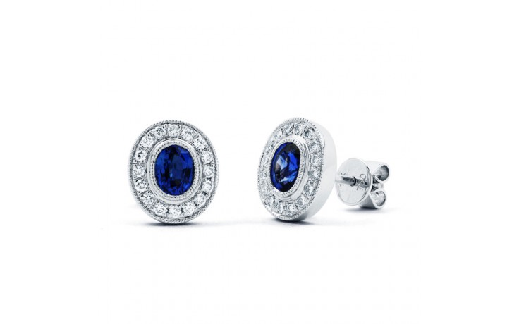 Vintage Sapphire Earrings with Milgrain product image 1