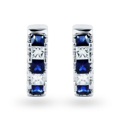 Half Hoop Sapphire Earrings image 0