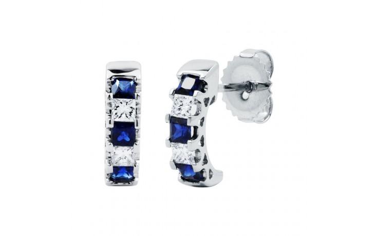 Half Hoop Sapphire Earrings product image 2