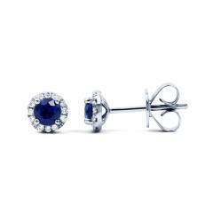 Sapphire Halo Earrings image 0