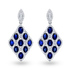 Vogue Blue Sapphire Earrings image 0