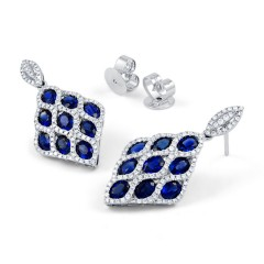 Vogue Blue Sapphire Earrings image 1