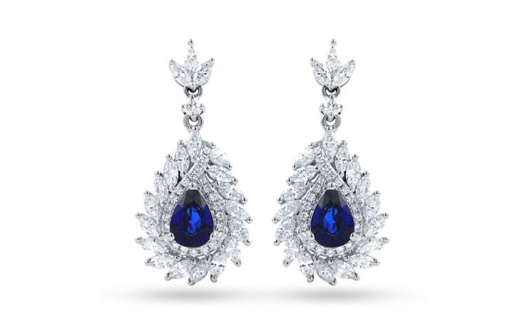 Athena Sri Lankan Sapphire and Diamond Earrings product image 1