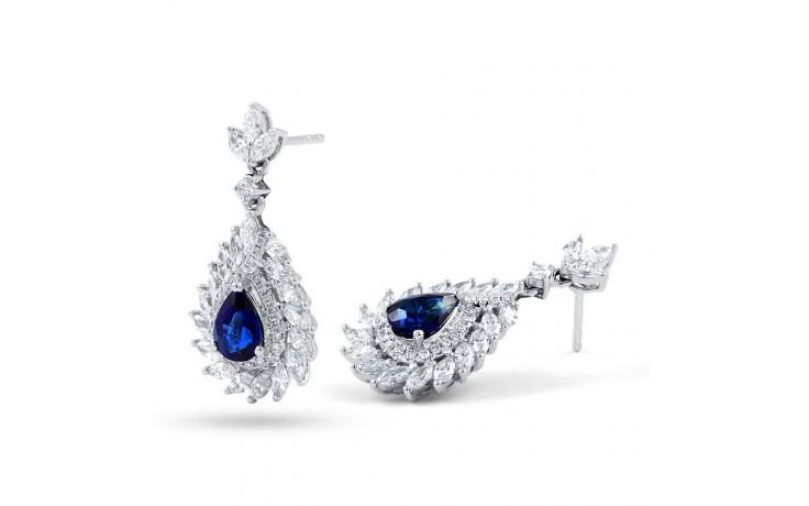 Athena Sri Lankan Sapphire and Diamond Earrings product image 2