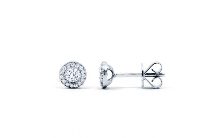 Diamond Halo Stud Earrings product image 1
