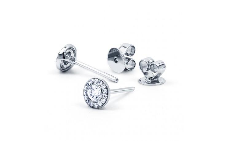 Diamond Halo Stud Earrings product image 2