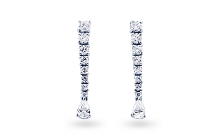 Diamond Drop Earrings in White Gold product image 1