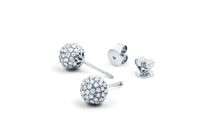 Diamond Disco Ball Cocktail Stud Earrings product image 2