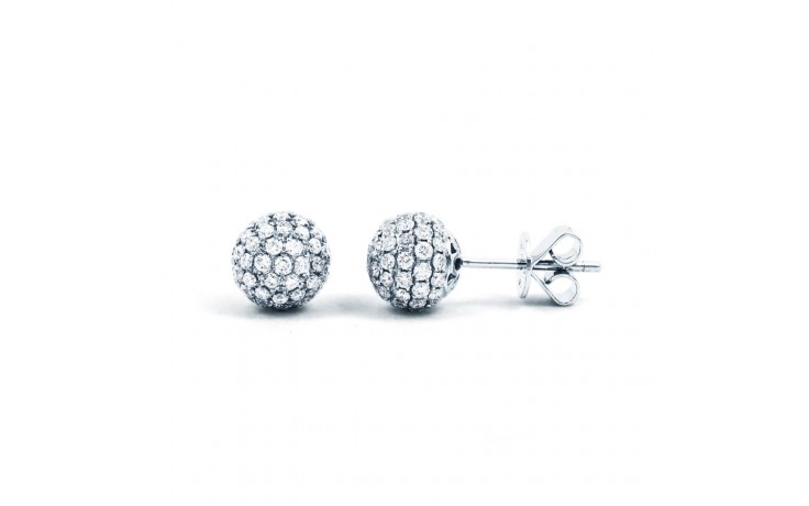 Diamond Disco Ball Cocktail Stud Earrings product image 1