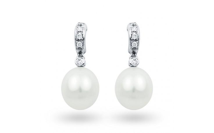 Freshwater Pearl & Diamonds Earrings product image 1