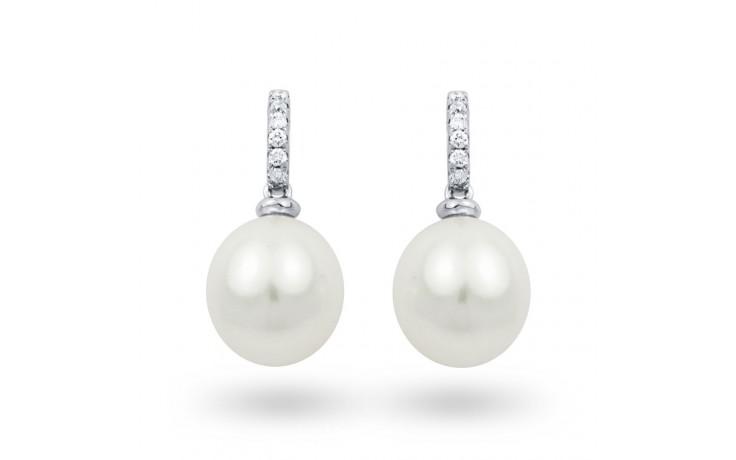 Pearl & Diamond Earrings product image 1