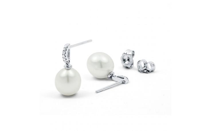Pearl & Diamond Earrings product image 2