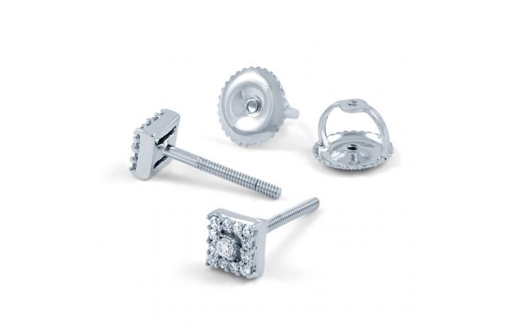 Modern Square Diamond Earrings product image 3