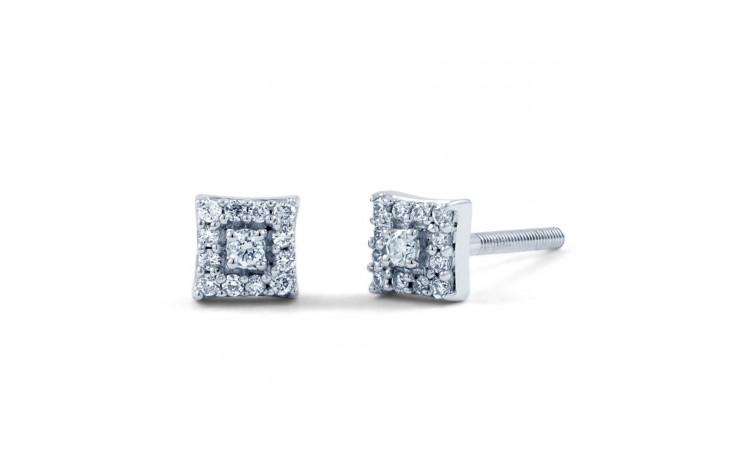 Modern Square Diamond Earrings product image 2