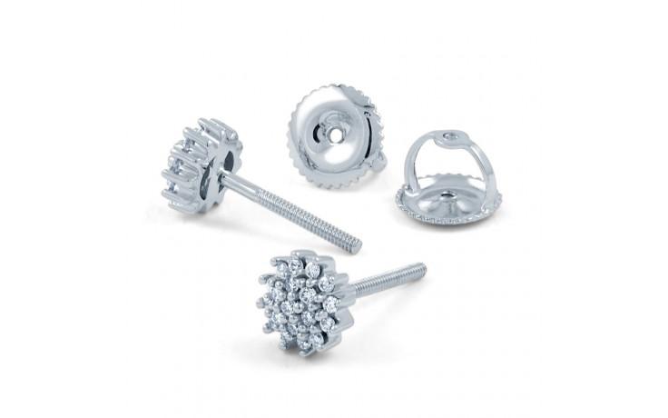 Round Diamond Stud Earrings product image 3