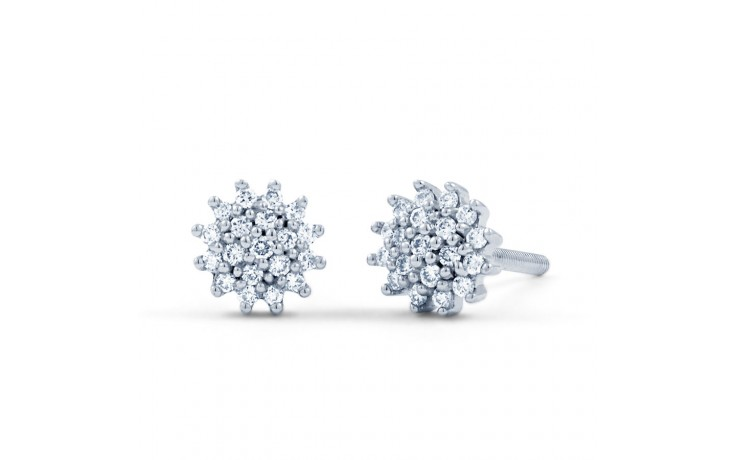 Round Diamond Stud Earrings product image 2