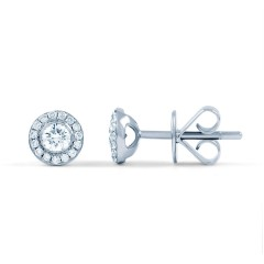 Diamond Halo Earrings image 0