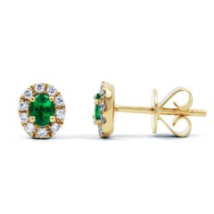 Shreya Emerald Stud Earrings image 0