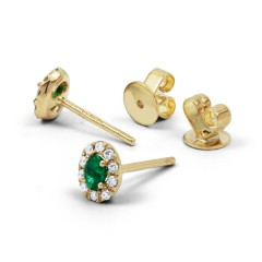 Shreya Emerald Stud Earrings image 1