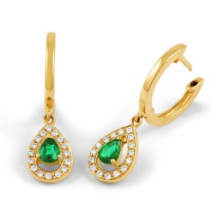 Shreya Emerald Hoop Earrings  image 1