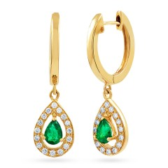 Shreya Emerald Hoop Earrings  image 0