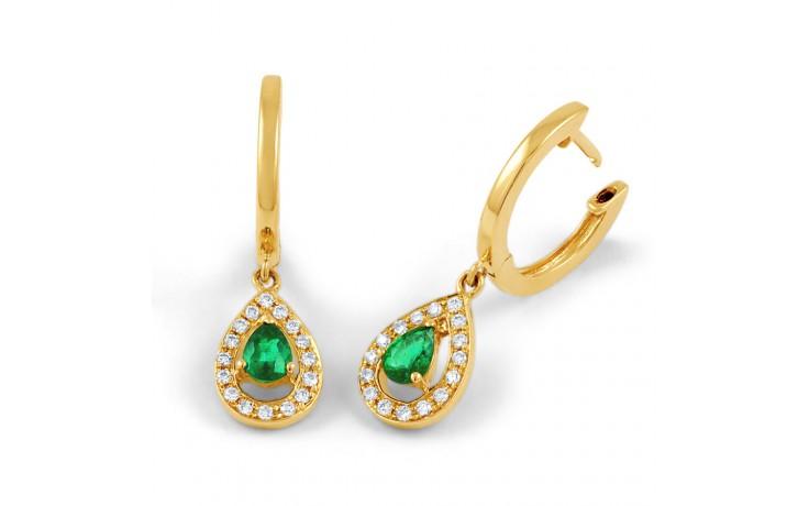 Shreya Emerald Hoop Earrings  product image 2