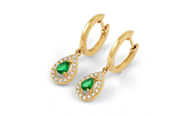 Shreya Emerald Hoop Earrings  product image 3