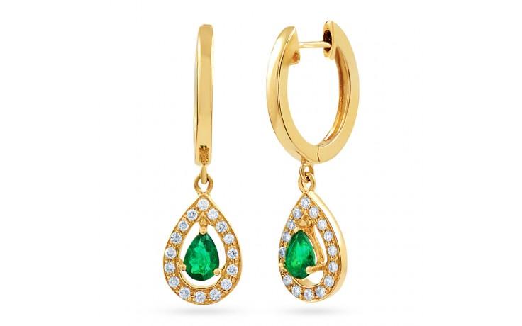 Shreya Emerald Hoop Earrings  product image 1