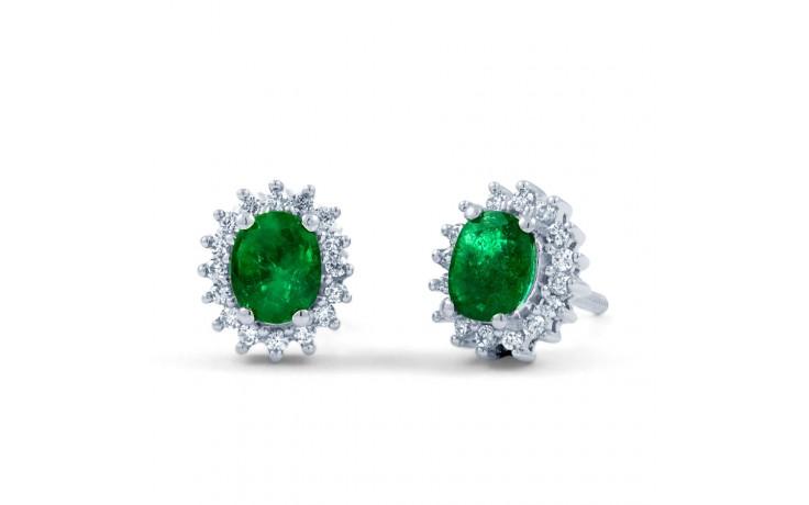 Emerald Halo Stud Earrings product image 2