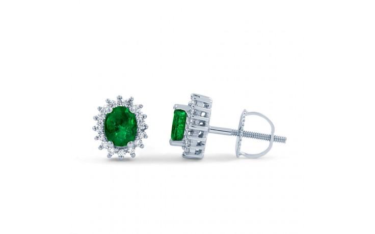 Emerald Halo Stud Earrings product image 1