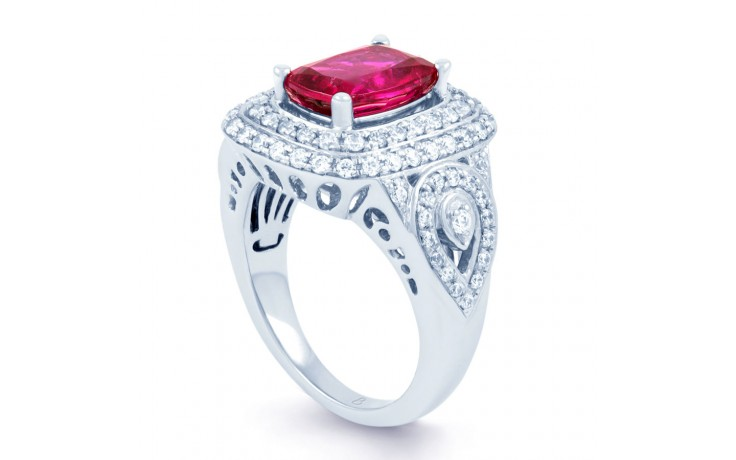 Rubellite Tourmaline Cocktail Ring product image 2