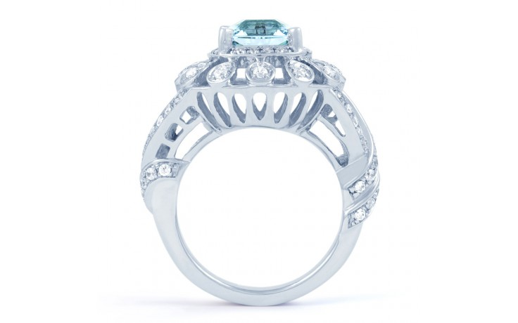 Aquamarine Cocktail Ring product image 3