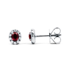 Regal Ruby Modern Stud Earrings image 0