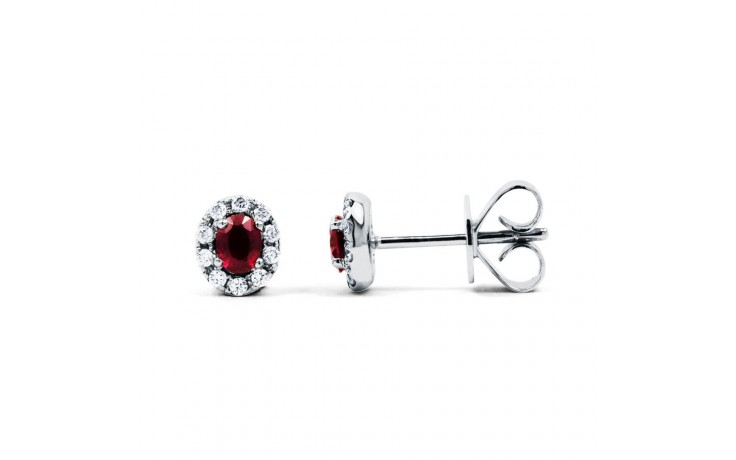 Regal Ruby Modern Stud Earrings product image 1
