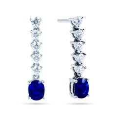 Blue Sapphire Drop Earrings image 0