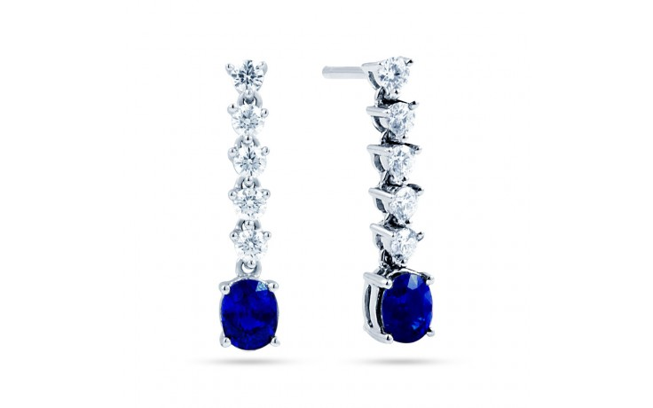 Blue Sapphire Drop Earrings product image 1