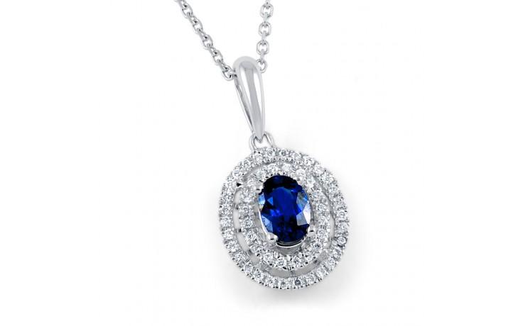 Double Halo Sapphire Pendant product image 1