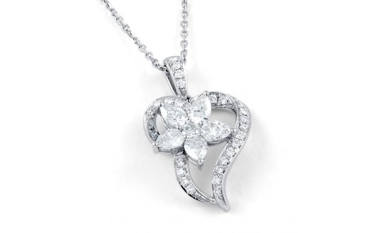 Aphrodite Heart Floral Pendant  product image 1