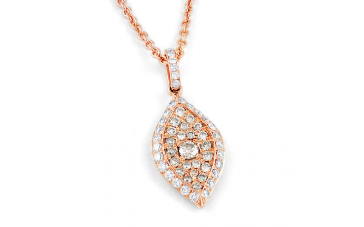 Rose Gold Brown Diamond Pendant product image 1